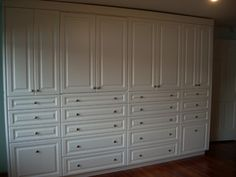 Large Built-In Wall Unit - traditional - closet - bridgeport - by Liberty Closet and Garage Company