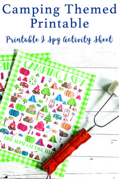 Print up this fun Camping themed I Spy Game or over a dozen more on Everyday Party Magazine #TotallyFreePrintables #Camping #ISpy