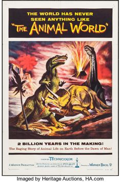 Movie Posters:Documentary, The Animal World (Warner Brothers, 1956). One Shee...