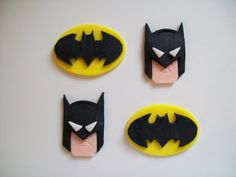 Batman and Batman Symbol Fondnt Cupcake Toppers by robin33smith, via Flickr