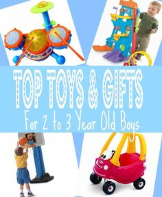 Browse through gift  ideas and top toys for 2 year old boys. Get your gifts for second birthday or and other day when they are on their way to turning three be it Christmas of just because.