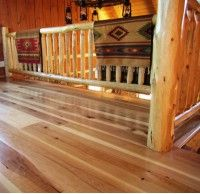 Hickory hardwood wide plank flooring mill-direct and USA made. Custom plank sizes, unfinished or prefinished. Hickory Wood Floors, Rustic Hardwood Floors, Natural Wood Flooring, Solid Wood Flooring, Wide Plank Flooring, Engineered Hardwood Flooring, Wood Planks, Faux Wood Tiles, Wood Floor Design