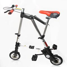 """8""""Inch Silver Folding Foldable Mini Bike Travel Bicycle City Town Bicycle USA #unbrand $111"""