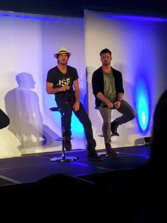 Ian Somerhalder and Daniel Gillis at Day 2 at Bloody Night Con 6 in Barcelona,  Spain (05/22/16)