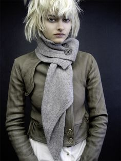 scarf, jacket & hair envy