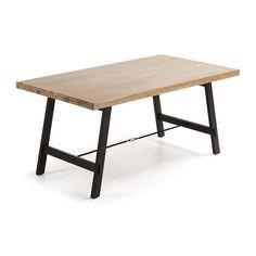 Eettafel hout en metaal Vita 210