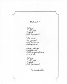 """What is it?"" by Marie Louise Allen (06/30/15)"