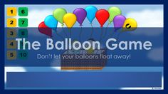 The Balloon Game is a quiz that encourages students to use their English to stop the balloons from floating away! This game is a classroom adaptation of a popular Japanese TV quiz segment. Powerpoint Game Templates, Microsoft Powerpoint, Balloon Games, The Balloon, Class Games, Music Class, Teaching Computers, Tools For Teaching, Teaching Ideas
