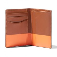 Jack Spade Dipped Leather Vertical Flap Wallet - $98