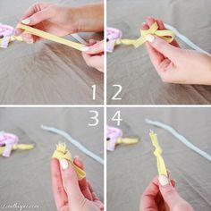 DIY Hair Elastic Ties