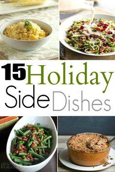 15 Holiday Side Dishes | www.joyfulhealthyeats.com | #holiday #sidedishes #recipes #thanksgiving