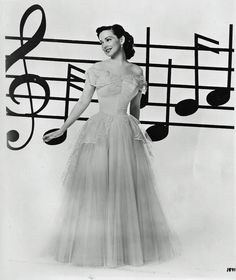 Kathryn Grayson. My favorite soprano. She was basically a real-life Snow White.