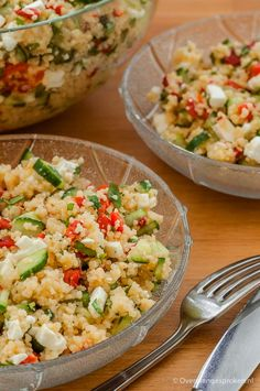 Couscous with feta - Couscous with feta – Summer salad with cucumber, roasted peppers, feta and fresh coriander. Fresh Coriander, Roasted Peppers, Summer Salads, Easy Dinner Recipes, Food Porn, Healthy Recipes, Healthy Food, Lunch, Cilantro
