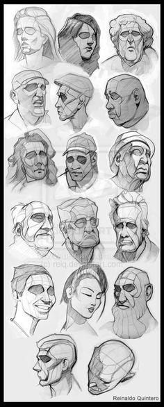 Croquis  recherches visages