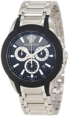 $1,064.00 Versace Men Character Stainless #Steel, Chronograph Date, Luminous #Watch