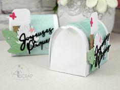"""Australe: #Tampons et #matrices de coupe #dies #4enSCRAP """"#Boite #cadeau"""" #scrapbooking Present Gift, Tampons, Scrapbooking, Mailbox, Card Making, Presents, Pretty, Cards, Gifts"""