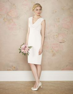 Cream cowl neck wedding dress from Monsoon.  €200.  Up to size UK 22.