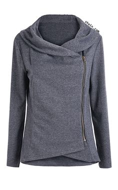 Asymmetric Zip Outerwear