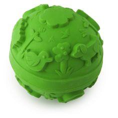 Oli & Carol 100% natural rubber ballchew toy, monochrome green ; vintage design. www.monballonrouge.com