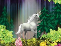 In the Golden Age of Atlantis, unicorns helped maintain purity and divine innocence.  These seventh-dimensional, pure white, ascended horses radiated light that looked like a spiralling horn from their third eyes.  They could direct a beam of pure energy into people.  They returning now to help our planet to ascend as they touch us with dignity, love, beauty, grace, and healing and reconnect us with our soul-essence ~