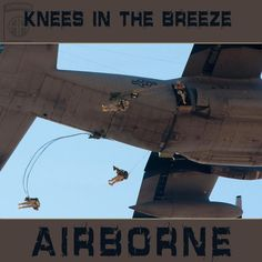 Knees in the breeze!    It's a great day to be a Devil Paratrooper.
