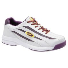 Electra Womens Bowling Shoes by Storm White/Grape/Yellow on Sale Bowling Outfit, Bowling Shoes, Best Running Sneakers, Running Shoes, Trainers, Athletic Shoes, Shoes Sneakers, Heels, Yellow
