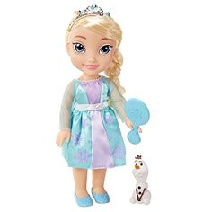 Elegant Elsa is dressed in her iconic outfit from the film Has adorable braided hair Hairbrush and royal tiara