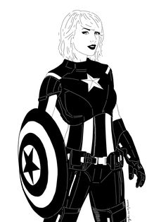 Taylor swift + captain america = this! And it's amazing