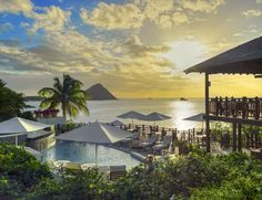 An idyllic stay at a boutique hotel on the beautiful island of St Lucia, with breakfast or all-inclusive board, plus a luxe suite with optional private pool Best All Inclusive Resorts, Hotels And Resorts, Hawaii Resorts, Luxury Resorts, Marriott Hotels, Top Hotels, Beach Hotels, Resort Villa, Resort Spa