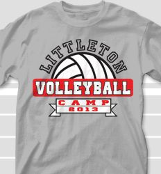 4ce4a338 Volleyball Camp T Shirt Designs - Cool Custom Volleyball Camp T ...  Volleyball Warm