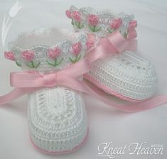 Boutique Crochet Tulip Baby Booties - Kneat Heaven Boutique - ... A
