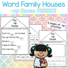 Homeschool Worksheets, Homeschool Kindergarten, Word Pictures, Pictures To Draw, Reading Centers, Cvc Words, Letter Sounds, Word Families, Phonics