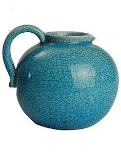 Vintage 1950s Swiss Studio Pottery Vase :: Quintessentia