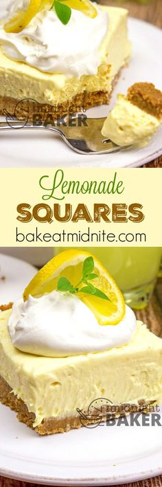 Lemonade Squares ~ bursting with sunny lemon flavor, these treats are refreshing and easy to make!