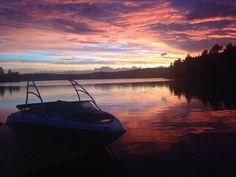 Night fall after a storm Leech Lake Muskoka