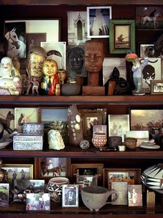 Andrew Maier Interior Design, Inc. Dad, this arrangement looks nice yet there is a lot of stuff in there!
