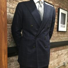 An elegant double breasted suit made by @orazio_luciano in @foxbrothers1772 flannel. Trunk Show Friday and Saturday (at The Armoury New York)