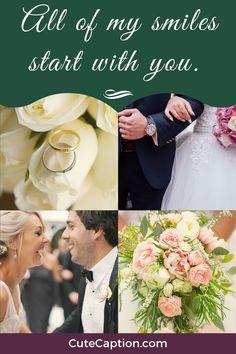 #instagramcaptions #instagrambios #cutecaptions #weddingcaptions # smiles # Wedding Captions For Instagram, Cute Captions, Wedding Humor, Table Decorations, Wedding Dresses, Bride Dresses, Bridal Gowns, Wedding Dressses