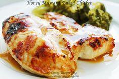 Clean Eating Dinner Idea – Honey Mustard Baked Chicken – Clean Eating Recipes - Clean Eating Diet Plan Made Easy