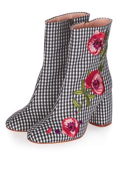 MADAME Embroidery Ankle Boots