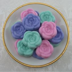 Large Open Rose Shaped Sugar Cubes - 20 Pieces by Sugars by Sharon on Gourmly