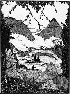 Une vue de la fertile vallée de Dorastor avant sa destruction imminente par les…