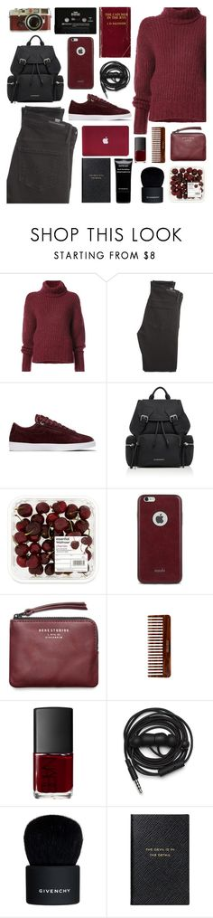 """""""086"""" by earendil-xx ❤ liked on Polyvore featuring BY. Bonnie Young, Citizens of Humanity, NIKE, Burberry, Leica, Moshi, Acne Studios, (MALIN+GOETZ), NARS Cosmetics and Urbanears"""