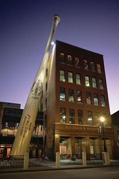 Hillerich & Bradsby Bat Factory & Museum.   Maker of The Louisville Slugger  Major League Baseball Bat.