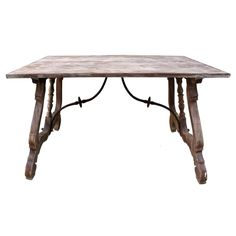 19th C. Spanish Trestle Table | From a unique collection of antique and modern desks and writing tables at http://www.1stdibs.com/furniture/tables/desks-writing-tables/