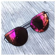 Sale! Cat Eye Aviator Sunglasses. This listing is for a pair of Cat Eye aviator sunshades. Red Mirrored Sunglasses. Retro. Sunglasses. Wire sunglasses. Trending sunglasses. UV protection. Top quality!