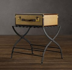 Delightful Restoration Hardware AVIGNON METAL LUGGAGE RACK The Graceful Curves And  Open, Airy Lines Of Our Iron Luggage Rack Gain Rustic Character Through An  Oxidized ...