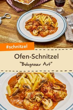 """Schnitzel und Bolognese vereint: Ofen-Schnitzel """"Bologneser Art"""" schmecken der g… Schnitzel and Bolognese combined: """"Bologna style"""" oven schnitzel for the whole family! With spicy minced meat and creamy sauce. Healthy Chicken Spaghetti, Easy Baked Spaghetti, Chicken Spaghetti Casserole, Spaghetti Squash Recipes, Healthy Chicken Recipes, Easy Healthy Recipes, Casserole Recipes, Burger, Drink"""