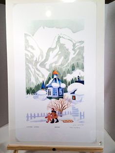 Winter, Juneau, 1989 by Rie Munoz / Signed Limited Edition Lithograph / #589 / 750 by greenviewlane on Etsy