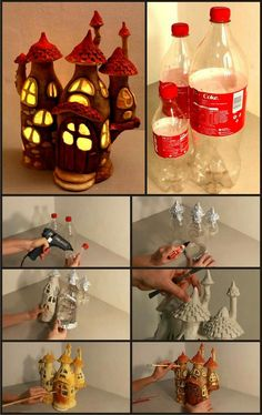 Paper mache' -- good medium to do this project .. put in LED night lite to brighten up youngsters room ......